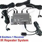 Infrared Remote Extender 8 Emitters 1 Receiver Hidden IR Repeater System Kit AU