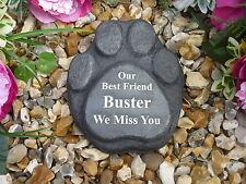 Dog Pet Memorial - Paw Print - Personalised & Completely Weatherproof