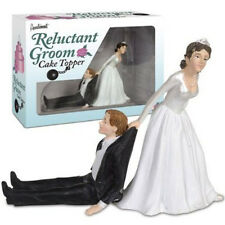 Reluctant Groom Cake Topper Wedding Day Bride Marriage Novelty Fun Gag Gifts