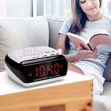 Wireless Bluetooth LED Digital Speaker MP3 Player Amplifier Alarm Clock FM Radio