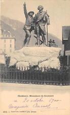CPA 74 CHAMONIX MONUMENT DE SAUSSURE (dos non divisé)