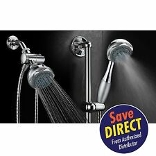 Hydroluxe® 24-Setting Shower Combo with insta-mount 24 inch Adjustable Slide Bar