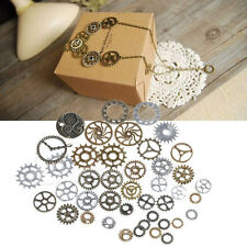 A Pack 42Pcs Mix Alloy Mechanical Steampunk Cogs & Gears DIY Jewelry Craft HOT
