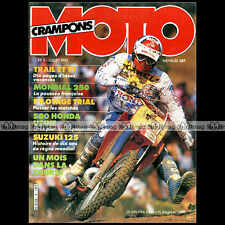MOTO CRAMPONS N°5 DAVID THORPE CROSS ★ HONDA 500 CR ANDRE MALHERBE ★ 1985