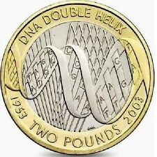 2003 £2 DNA DOUBLE HELIX BRUNEL 50TH TWO POUND COIN HUNT 08/32 RARE 2 zz