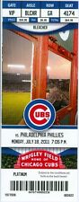2011 Cubs vs Phillies Ticket: Jimmy Rollins, Aramis Ramirez & Carlos Pena homer