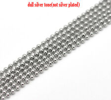 2mtr HYPOALLERGENIC STAINLESS STEEL 2mm BALL CHAIN+5 connectors~Necklace()