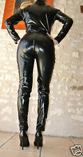 COMBINAISON WETLOOK NOIR BRILLANT SHINY ZIP 2 VOIE XL OVERALL ALL IN ONE BLACK