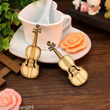 Retro Mini Wooden Violin Dolls House Decoration Musical Instrument Small Gift