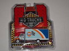 GREENLIGHT 1/64 H.D.TRUCKS INTERNATIONAL DURASTAR BOX TRUCK GULF 33070
