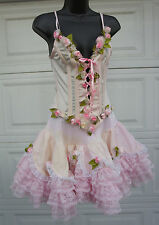Trashy Lingerie Ballerina Fairy Corset Top and Tutu Skirt pink floral costume