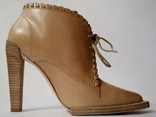 ALEXANDER WANG UK6 EU39 US9 TAN LEATHER LACED ANKLE BOOTS