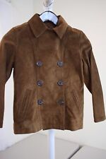 GAP 100% Leather 3 Button Double Breasted Brown Lined Jacket Size - Juniors - M
