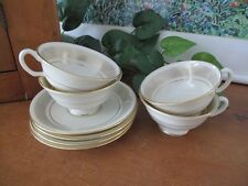 Lenox FLOURISH Cups and Saucers ~ 4 ~ H521 ~ circa 1964-1974