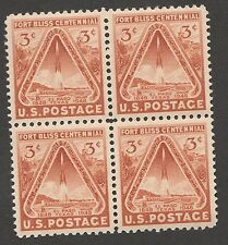 US 976 Fort Bliss 3c block MNH 1948