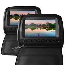 "XTRONS 2x9"" In Car Dual Headrest Monitor DVD Player Twin Screen Games USB SD"