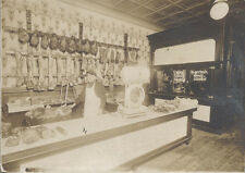 1900S PHOTO OF EARLY BUTCHER SHOP W/ YOUNG BUTCHER