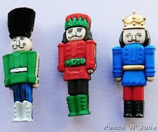 NUTCRACKERS - Christmas Soldier King Toy Man Novelty Dress It Up Craft Buttons