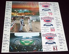 1993 Cleveland Indians / Stadium 3 Ticket Strip The Final Series vs.Chicago MINT