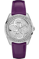 GUESS W0627L8,Ladies Dress,Stainless Steel,Silver-Tone,Crystal Accented Bezel