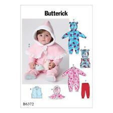BUTTERICK SEWING PATTERN INFANTS CAPE VEST BUNTING & PANTS SIZE NBN - XIG B6372