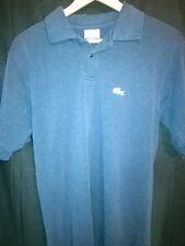 Men's Lacoste  Polo Shirt Blue Size 6   H63