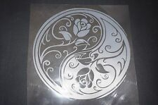 Flower Yin Yang window Sticker decal Wicca Pagan new age frosted glass Vinyl