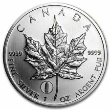 2012 Canadian Silver Maple Leaf with Leaning Tower of Pisa Privy Mark 1oz Coin