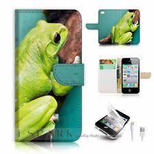 iPhone 5 5S Flip Wallet Case Cover! S8241 Frog