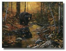 "Bear Near Creek""The Last Days Of Autumn"" ByJimHansel 16x12 WallArt Print Picture"