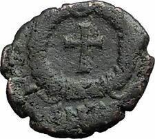THEODOSIUS II 425AD Christian CROSS Genuine Authentic Ancient Roman Coin i59589