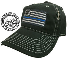3 Thin Blue Line Hats New Hat Cap police law enforcement THREE