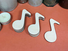 WOODEN MUSICAL NOTE SHAPES 7.6cm(x10) lasercut wood cutouts wood crafts shape