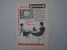 advertising Pubblicità 1959 TELEVISORE AUTOVOX