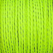 High Viz flouro Verde Twisted Trenzado Tejido Cable 3-core 0.5 mm para el alumbrado