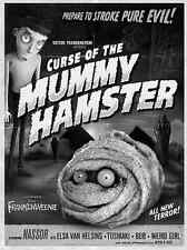 Frankenweenie Curse of the Mummy Hamster Canvas Giclee Print Poster SOLD OUT