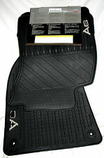 LATE 2006 TO 2011 Audi A6 Rubber Floor Mats - Genuine Audi Factory OEM Accessory