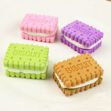 4pcs Mini Cute Biscuit Rubber Pencil Eraser For Children Stationery Prize
