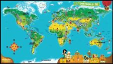 NEW LeapFrog LeapReader Interactive World Map works with Tag FREE SHIPPING