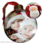 PERSONALISED PHOTO CHRISTMAS BAUBLE   DOUBLE SIDED ADD NAME   TREE DECORATION 2