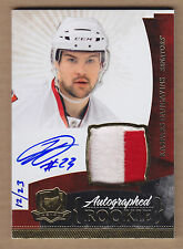 10-11 2010-11 The Cup GOLD Rainbow Kaspars Daugavins 2C JSY Patch Auto RC /23