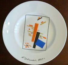 Kleiner Lomonsov Porzellanteller 'Motive des Suprematismus' Malewitsch 15.5cm