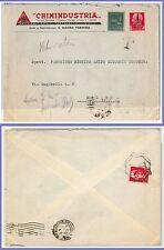 47284 - ITALIA RSI: storia postale - Monumenti distrutti su BUSTA tassata ! 1945