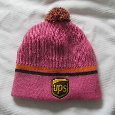 UPS TOQUE PINK Winter Hat CAP TUQUE BEANIE UNITED POSTAL SERVICE WOMAN