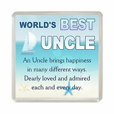 WORLDS BEST UNCLE Fridge Magnet Fun Quote Novelty Birthday Christmas Gift