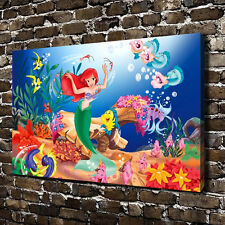 Little Mermaid Ariel princess Children Cartoon HD Canvas Print picture 12x18
