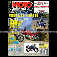 MOTO JOURNAL N°1010 YAMAHA XJ 600 S DIVERSION, MORPHO, APRILIA 650 PEGASO 1991