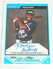 XAVIER AVERY SIGNED 2007 BOWMAN AFLAC ALL AMERICAN CARD RC SEATTLE MARINERS