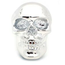 Resin Skull Universal Custom Stick Shift Knob Press On Fit - Chrome Skull