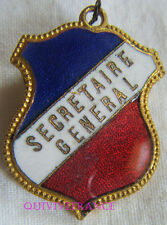 BG7002 - INSIGNE BADGE TRICOLORE - SECRETAIRE GENERAL